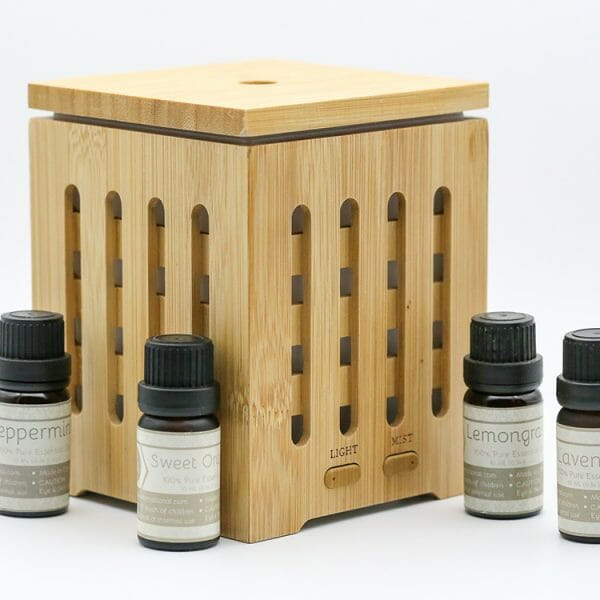 Bamboo Lantern Ultrasonic Essential Oil Diffuser