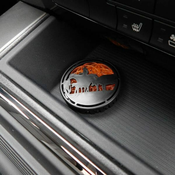 Campfire Nights™ Truck Puck Automobile Air Fresheners In Use