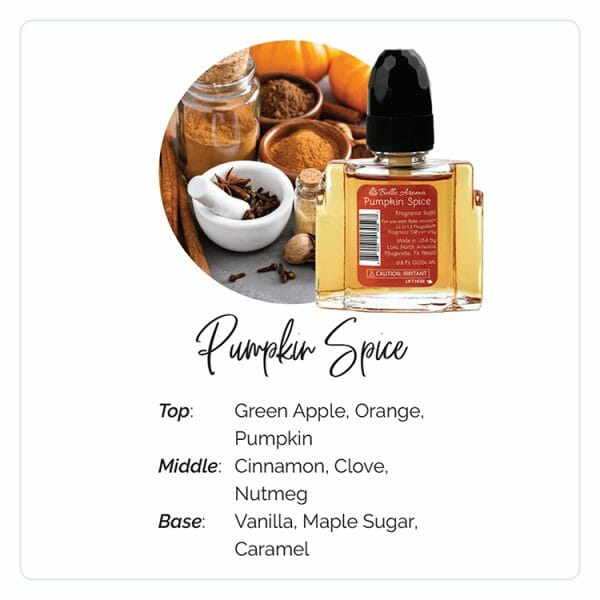 Pumpkin Spice Plugables Electric Warmer Refill Aromas