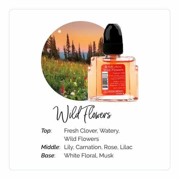 Wild Flowers Plugables Electric Warmer Refill Aroma