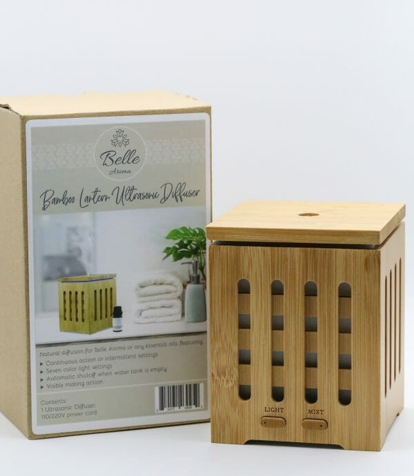 Bamboo Lantern Ultrasonic Aromatherapy Diffuser Packaged
