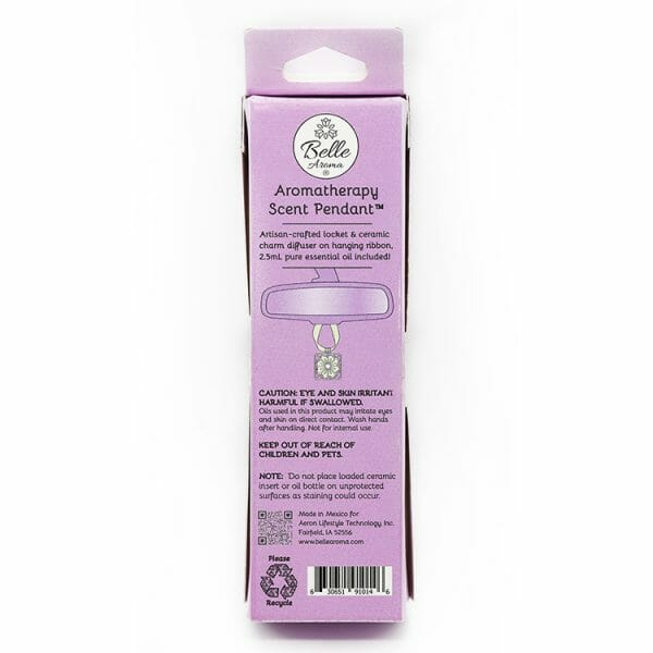 Aromatherapy Scent Pendant Packaging - Back