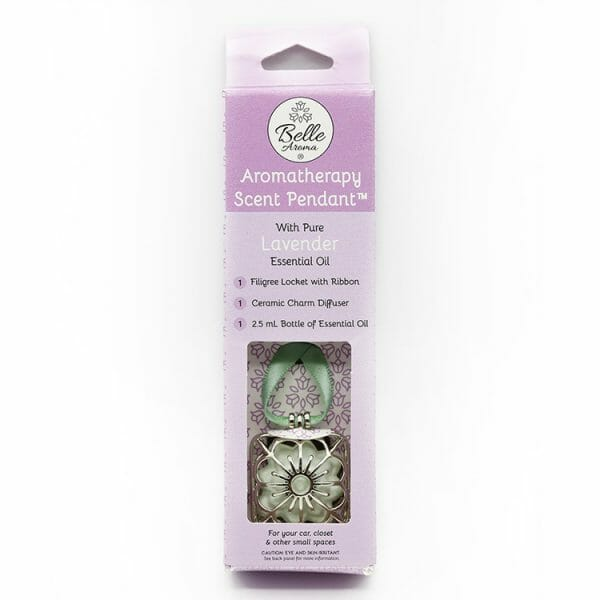 Aromatherapy Scent Pendant Packaged - Lavender