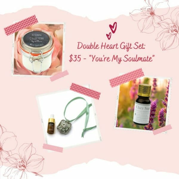 Valentines Day Double Heart Gift Set